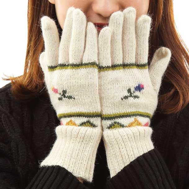 アルパカニットコレクション 手袋の画像